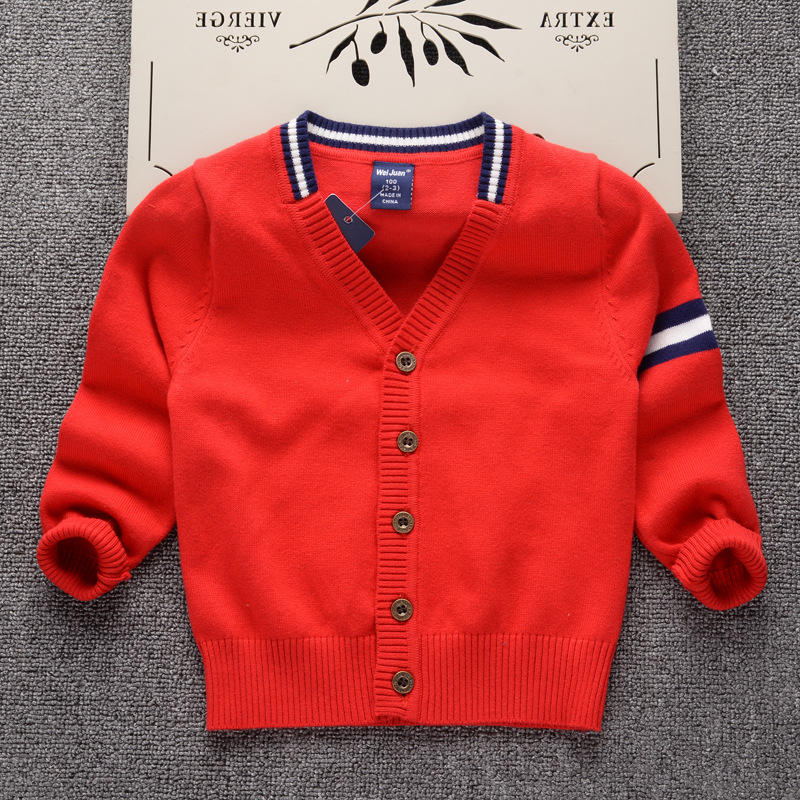 45aad566face Cardigan Sweater for Boys Brand Design Knit Sweater Kids Clothes ...