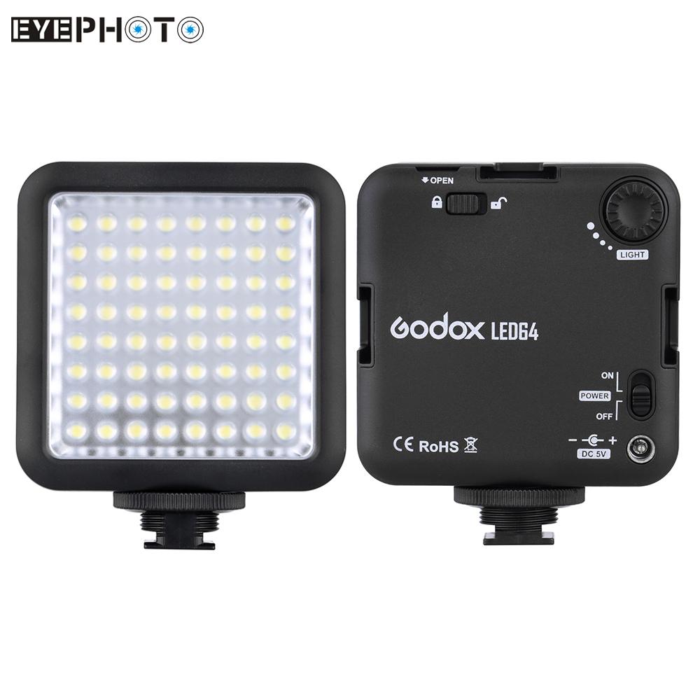 Prix pour Godox LED Lumière Vidéo pour DSLR Appareil Photo Caméscope mini DVR comme Remplir Lumière Lampe Éclairage Photographique pour le Mariage Nouvelles Entrevue