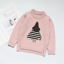 PRYDYC Pure Color Pattern Sweater Girl Spring and Autumn Winter Long Sleeve Warm Knitted Baby Girls Pullover Top