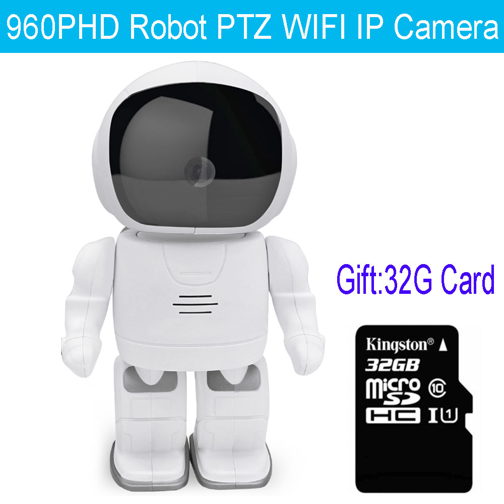 960P HD MINI IP Camera Robot Vision Audio Recording Network Baby Monitor WIFI Camera Pan Tilt
