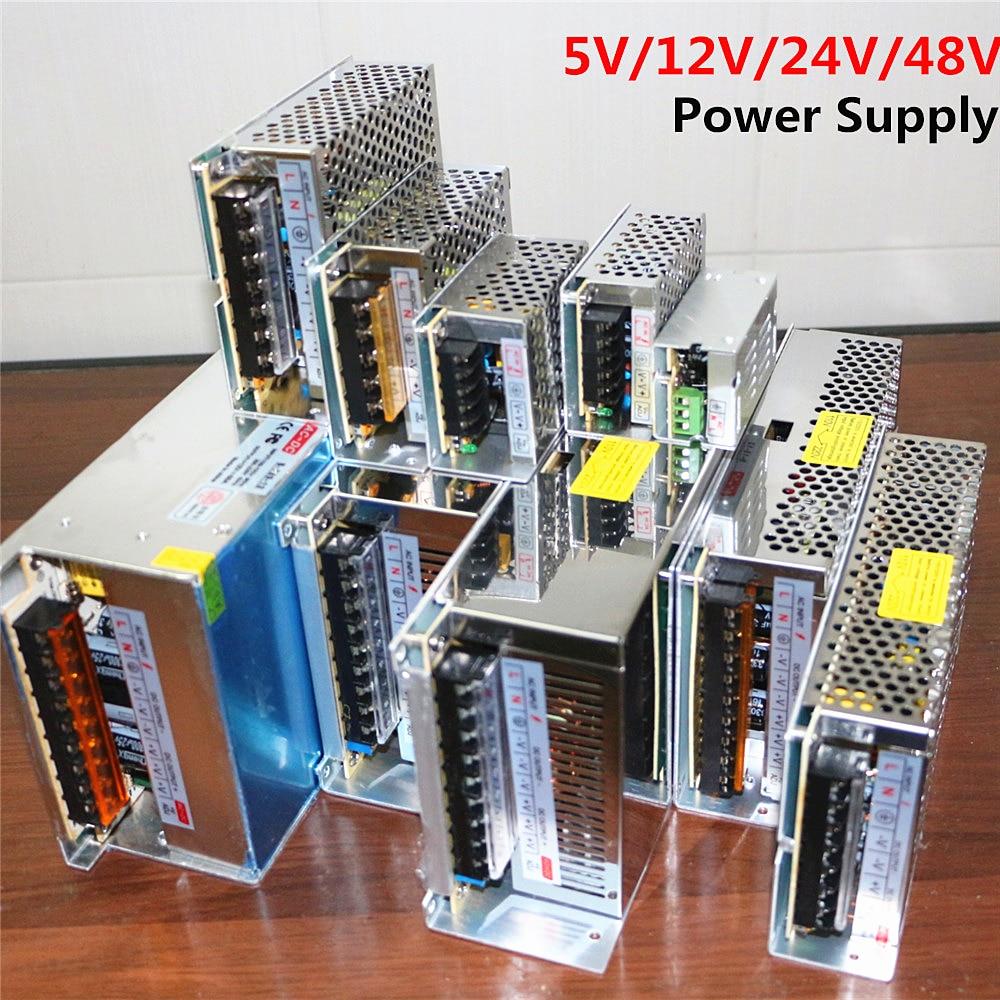 LED Strip Power Supply AC 110V 220V to DC 5V 12V 24V 48V LED Driver 1A 2A 3A 5A 10A 15A 20A 30A 40A 50A 60A Lighting Transformer aifeng dc 24v switching power supply 1a 2a 3a 5a 15a 25a power supply switching power ac 110v 220v to dc 24v for led strip light