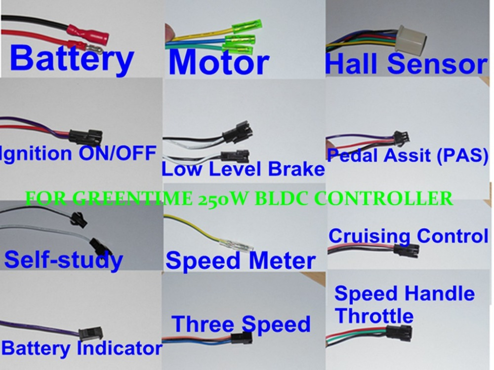 GREENTIME 24V 250W Brushless DC motor controller E bike controller dual mode sensor sensorless bldc controller aliexpress com buy greentime 24v 250w brushless dc motor e bike controller wiring diagram at crackthecode.co