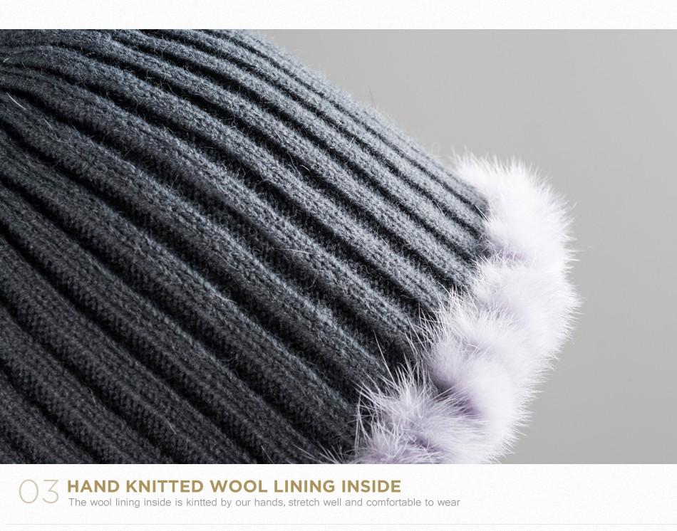 mink fur hats female winter PCM016 (7)