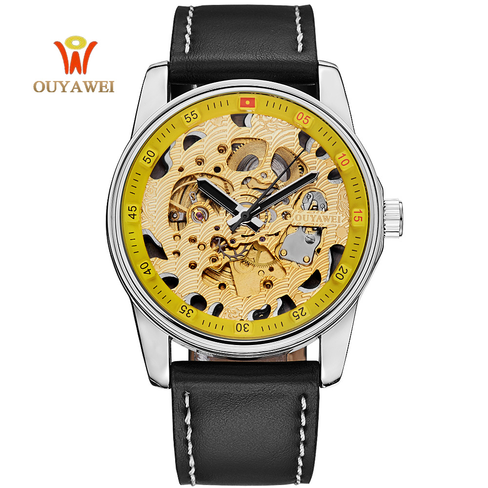 HOT SELL Sport  Wrist watches  gold watches men self-wind automatic winding mechanical Wristwatches Full Steel waterproof female