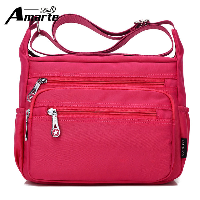 Amarte Women Messenger Bags Waterproof Nylon Crossbody For Veresatile Satchels Female Travel School Shoulder