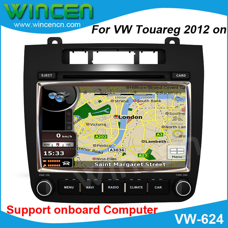 RoadRover Brand 8 Car DVD GPS Player for VW Touareg 2012 support the original Air conditioner display original style interface