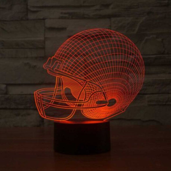 3D Smart Night Light Football Cap/Helmet Illusion Night Light 7 Colors Change Led Desk Lamp Usb Lamp Led Night