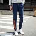 Mens Sweatpants Fashion Spring Autumn Leisure Pants Men Personlity Striped Decor Pants Male Harem Pant Plus Size