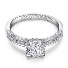 Luxury 4-Claw GIA Diamond Engagement Ring for Women 18K White Gold 1.01+0.5ct GIA Diamond Jewelry Handmade Wedding Band