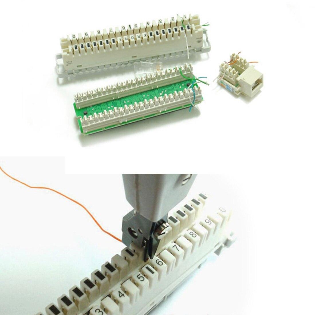 Noyokere Новый профессиональный Телеком телефонный кабель Cat5 RJ11 RJ45 сети удар Подпушка сети инструмент