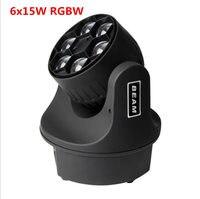 Светодиодный мини Би глаз светодиодный перемещение головы луч света эффект 6x15 Вт dj RGBW 4in1 светодиодный Увеличить Свет