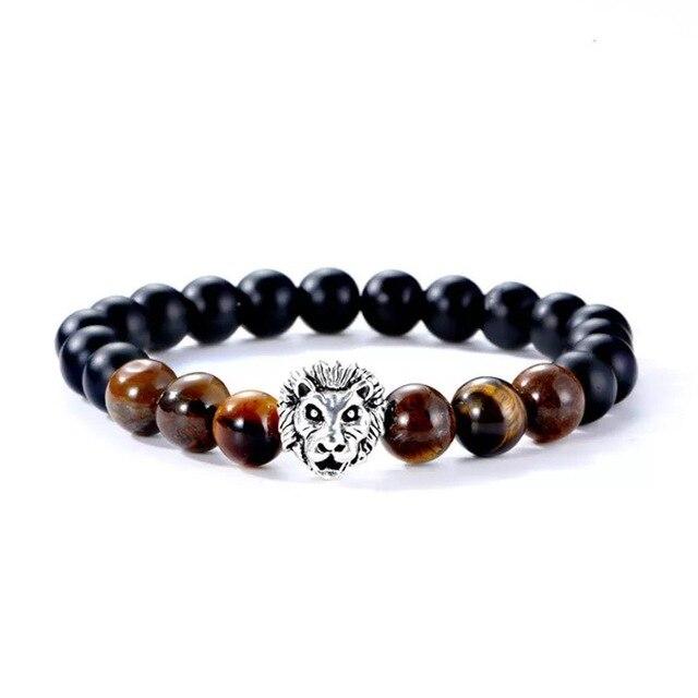 Bracelet pierre naturelle tête de loup 5