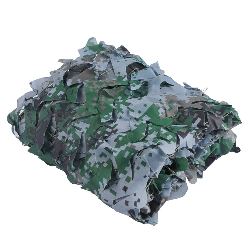 3M 4M Military Filet Hunting Decoration Camouflage Net 150D Polyester Oxford Bird Watching Blinds Decoration Camouflage