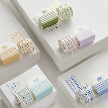 4Pcs/box 5mm Colorful Gold Slim Series Masking Washi Tape DIY Decorative Adhesive Scrapbooking Cute Bullet Journal Supplies