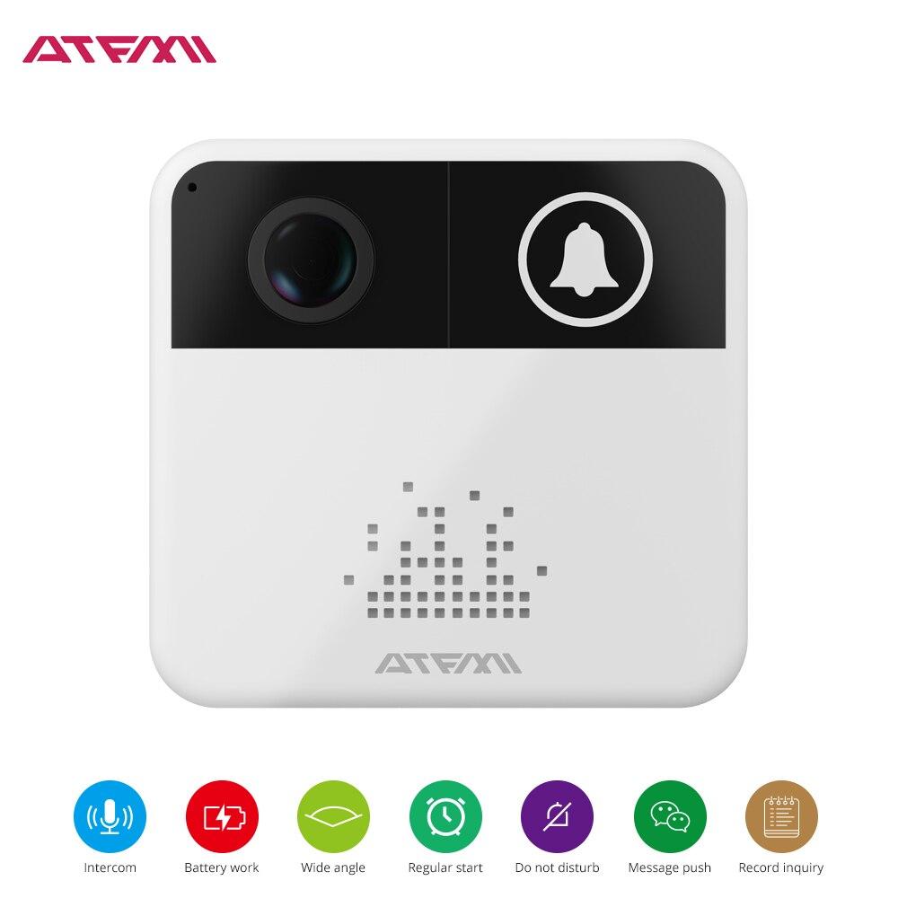 ATFMI Mini WIFI Vidéo Sonnette Caméra 720 p HD Caméra de Sécurité Sonnette Moniteur Smart Caméra Vidéo Interphone Téléphone Interphone