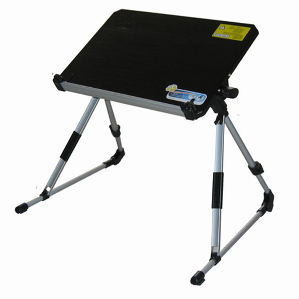 Free shipping folding aluminum alloy adjustable height laptop desk/ portable laptop table,MOQ:1piece