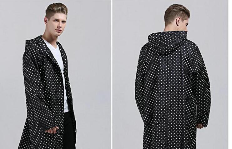 women rainwear adult leisure light waterproof poncho men classic dot windbreaker raincoats Poncho raincoat