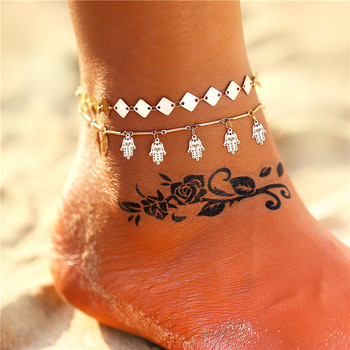 17KM Multiple Vintage Bohemian Ankle Bracelet Cheville Barefoot Sandals Pulseras Tobilleras Foot Jewelry 1