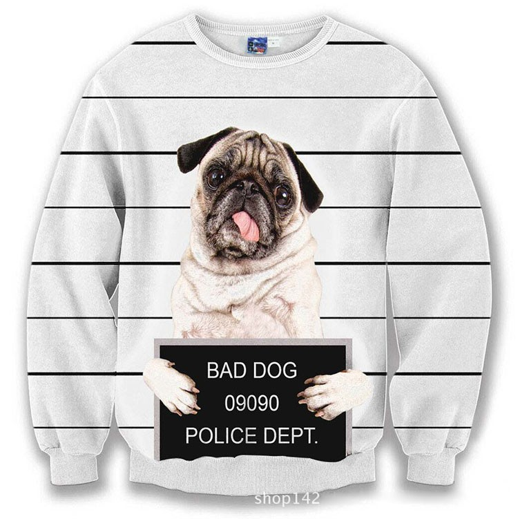 Menwomen 3d sweatshirts new designed Surprised Frankenstein hoodies funny print animals dog lion tops pullover sport tracksuits (4)