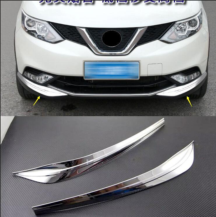100% Vero Auto-styling Per Nissan Qashqai 2016-2017 Abs Chrome Paraurti Anteriore Fendinebbia Palpebra Sfregamento Striscia Di Copertura Trim Ricambi Auto