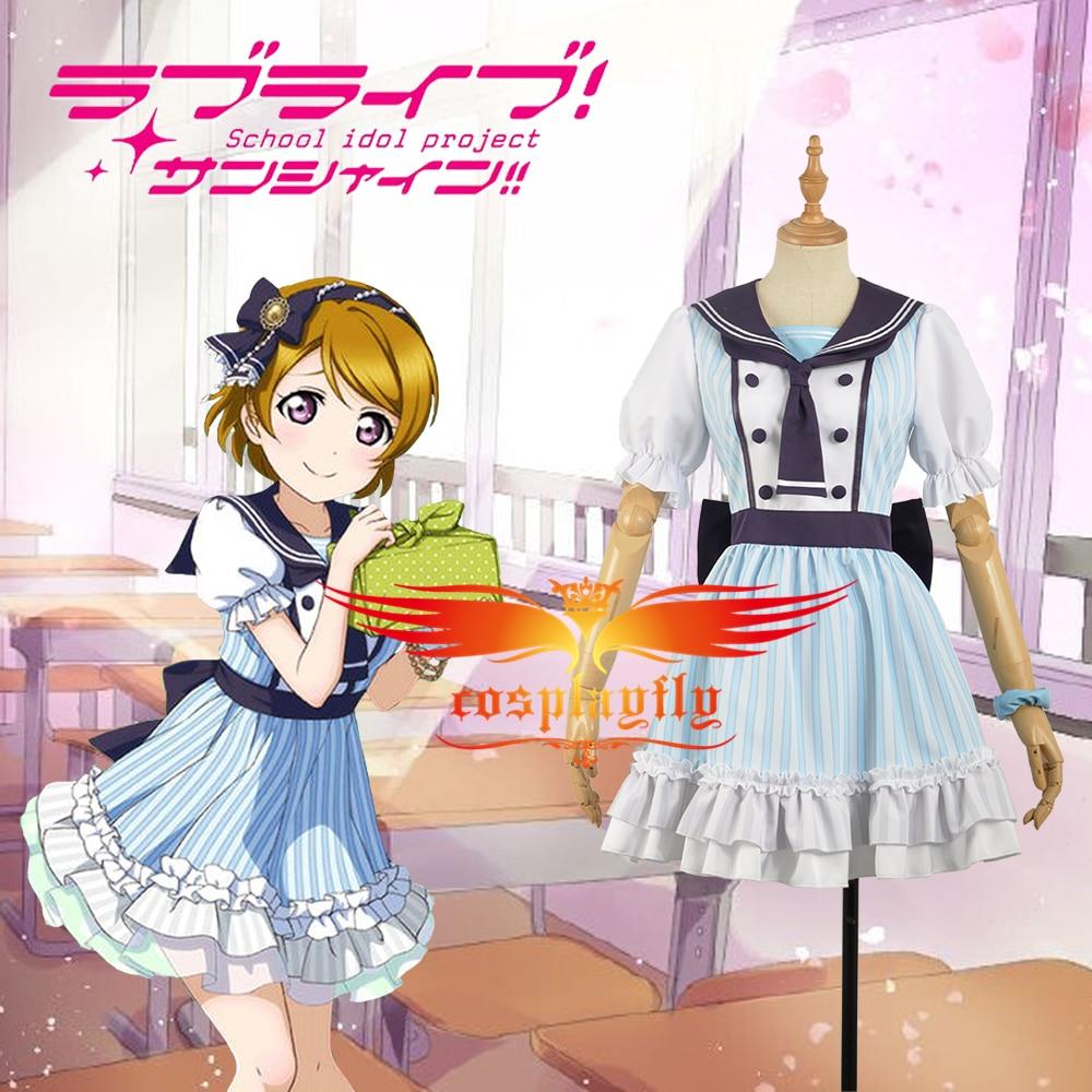 Love Live! Hanayo Koizumi Pirate Unawakened School Uniform Dress Cosplay Costume Adult Women Outfit Clothing Dress W1255-3