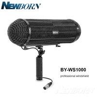 Boya BY WS1000 Mikrofonlar Blimp Cam Süspansiyon Sistemi Av Tüfeği Mic Canon Nikon Sony DSLR için Kamera Kaydedici|Mikrofonlar|Tüketici Elektroniği -