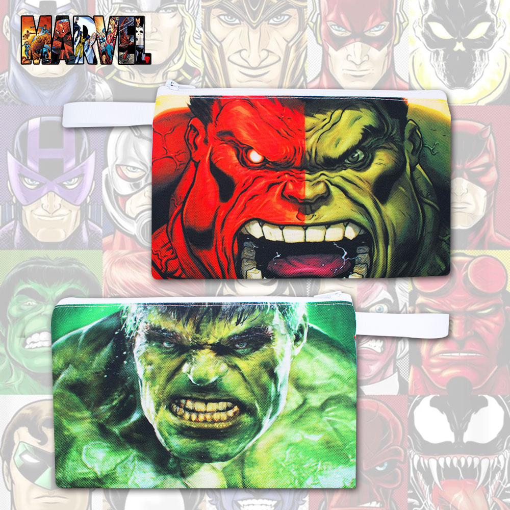 OHCOMICS Hot For Marvel Avengers Infinity War Fans Canvas Hulk Green Pen Pencil Bag Pencilcase Box Work Study Costume Gift