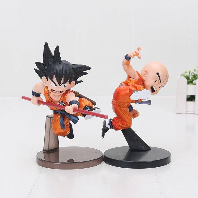 13cm Dragon Ball Z Son Goku metallic color childhood krillin PVC Action Figure Toys Model Doll