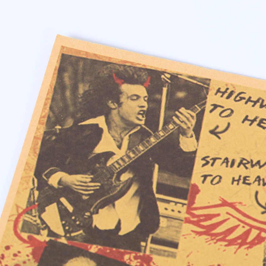 Музыкальные постеры TIE LER, рок-н-Рол, знаменитая рок-певица, индивидуальное украшение комнаты, крафт-настенная бумажная наклейка