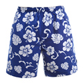 2016 Men Hawaii Holiday Casual Beach Shorts Summer Loose Quick Dry Male Shorts Floral Printed Board Shorts Plus Size W601