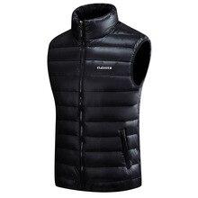 Мужские Пуховые жилеты, 4 цвета, зимние куртки, жилет, мужская мода, без рукавов, одноцветная, на молнии, пальто, теплые жилеты, плюс размер, S-5xl