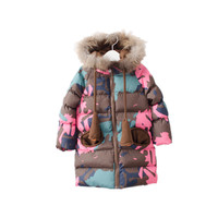 baby girl winter jacket girl coat children's winter Jacket kids parka for girl real fur on hood new year costume baby Outerwear