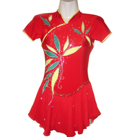 RUBU Tradition Ice Skating Dress For Womens and Girl Figure Skating Competition Dresses Good Permeability Spandex M