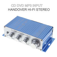 купить Hi-Fi Car Stereo Audio Amplifier RMS 20W 85dB + 10W Support CD DVD MP3 Input Auto Vehicle Audio Amplifier онлайн