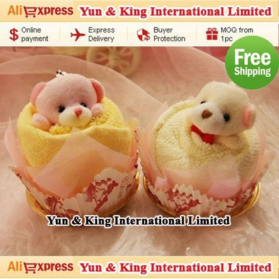 Best Selling+Free Shipping Christmas Gift 100% Cotton New Cute Towel Animal,Towel Bear