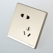 Wall - Mounted Switch, 86 Concealed Large Plate Of Champagne Gold, Five Hole Socket, 10A PC 220V