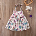 Kids Baby Girl Cartoon Graffiti Tanque de la Princesa Vestido de Verano Vestidos Casuales 2-6Y