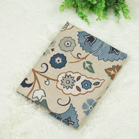 1 Meter Khaki Bottom With Retro Floral 100 Cotton Fabric For Curtain Sofa Table Cloth CR