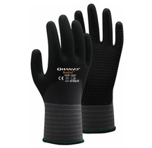 Work Glove 2 Pairs 15 Guage Nylon Spandex With Nitrile Foam 3/4 Dipped Safety Glove