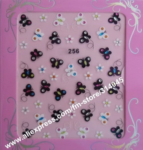 Latest 96 Kinds Korea Styles 3D Nail Sticker,3D Nail Patch,Nail Art Seal,Nail Decoration Strips 100 Packs/LOT