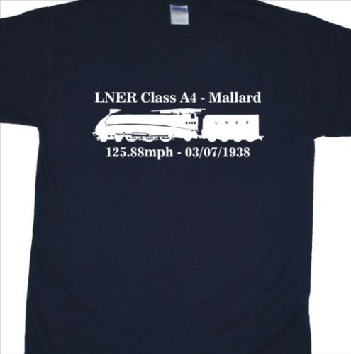 LNER A4 Mallard T-Shirt (Steam Trains, Railway)