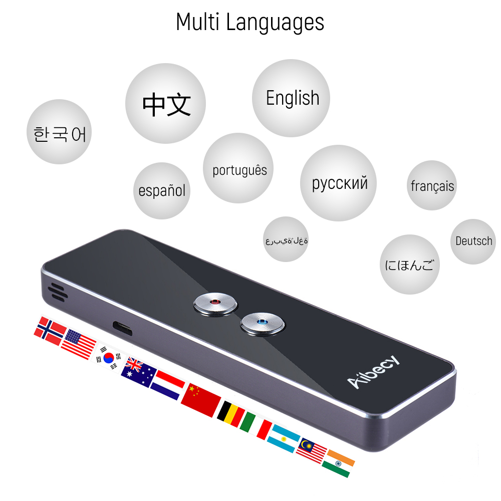 Tiempo Real 30 idiomas Instant Translator Voice Pocket Translator Speech Translation Device con APP para viajes Drop Shipping