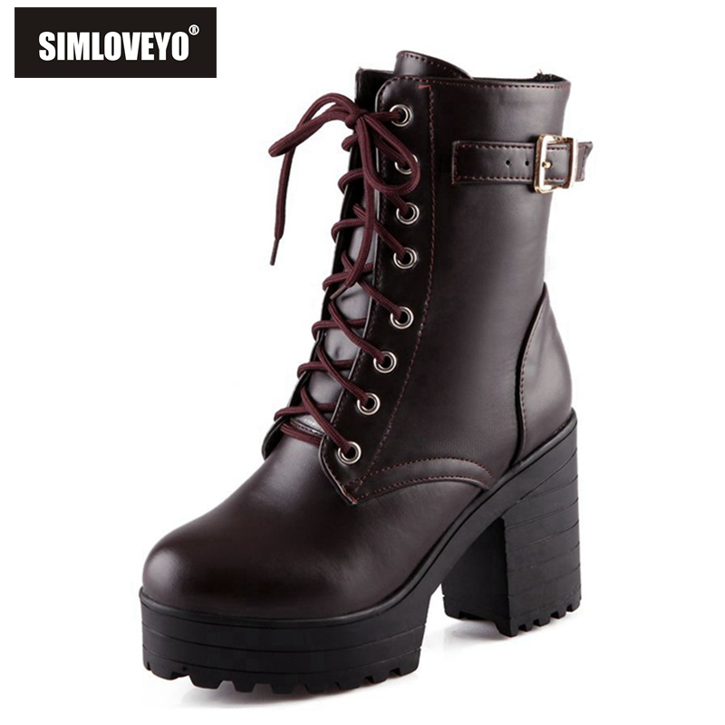 Popular Lace up Ankle Boots Combat Boots-Buy Cheap Lace up Ankle ...