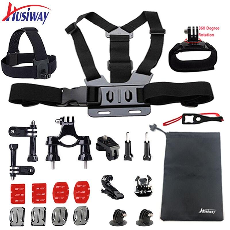Husiway zubehör set für Gopro hero 6 5 4 3 2 montieren für go pro SJ5000 Eken/SOOCOO/xiaomi yi 4 karat kamera 11
