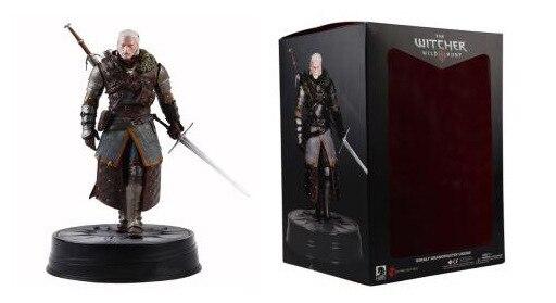 Hot 25 CM sombre cheval The Witcher 3 sauvage chasse Geralt de Rivia grand-maître Ursine Statue PVC figurine modèle jouet à collectionner