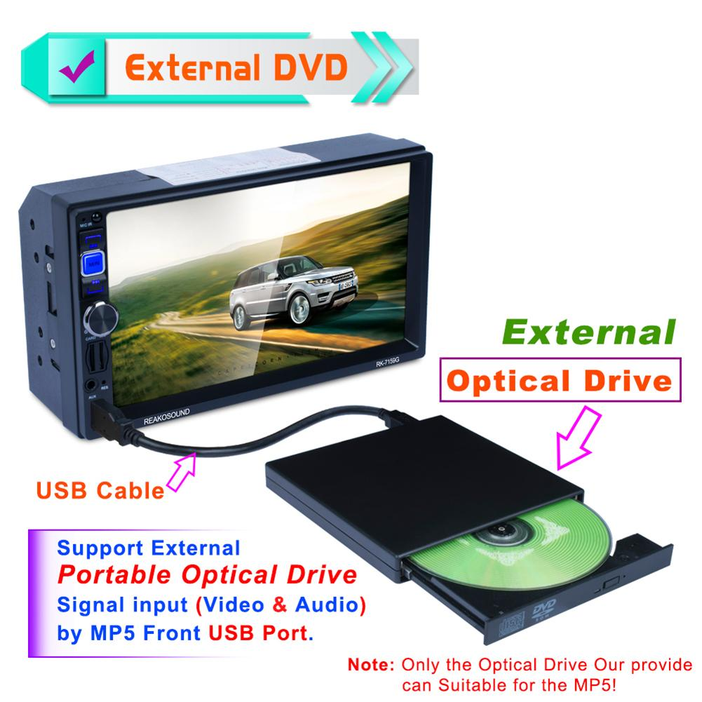 External DVD ROM Optical Drive USB 2.0 CD/DVD-ROM CD-RW Player Burner Slim Portable Reader Recorder Portatil For Laptop Auto