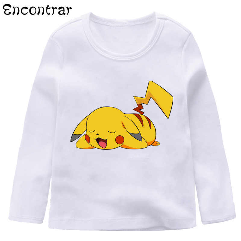 dbf2bebb Kids Anime Pokemon Go Pikachu Design T Shirt Boys/Girls Casual Long Sleeve  Tops Children's