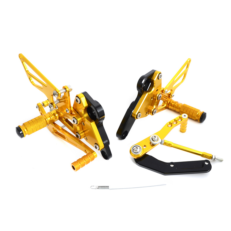 Adjustable Rearsets Foot Pegs Footrests Shift Rod Footpeg Stainless Bolt Set For Yamaha MT-09 MT09 FZ09 FZ-09 2013-2016 MT FZ 09