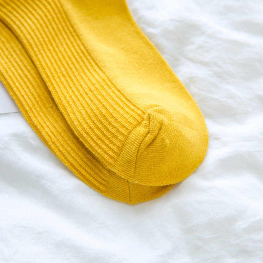 Бесплатная страуса модная запасы тренд для девочек модные простые японский однотонная, маленькая свежая и комфортные туфли со шнуровкой Женские Носки