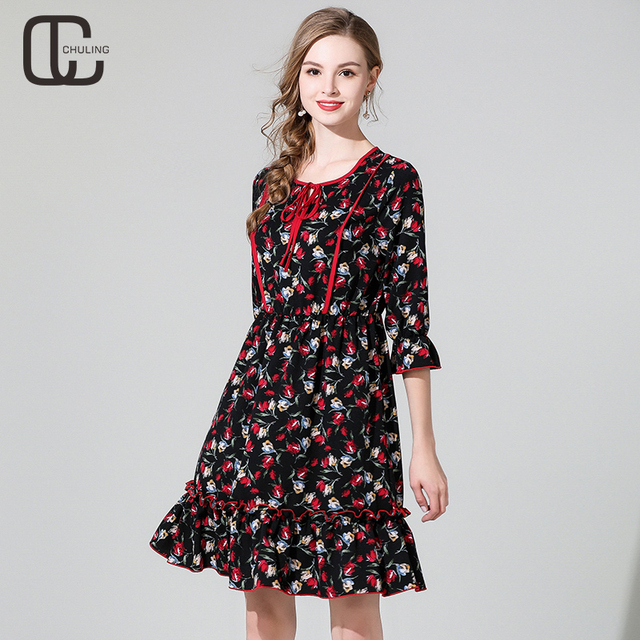 Aliexpress.com : Buy 2019 Spring Autumn Women\'s Floral Print Casual ...